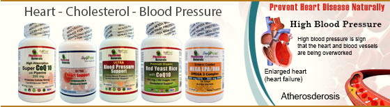 Heart - Cholesterol - Blood Pressure Supplements Sales