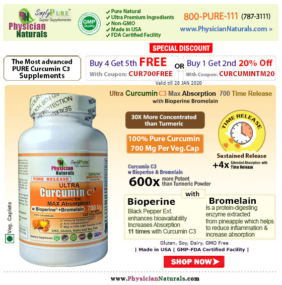 Free* Bottle Of The Most Advanced Pure Curcumin C3 Supplement