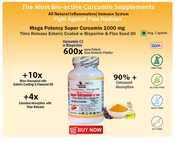 Highest Potency and Most Bio-Active Curucmin