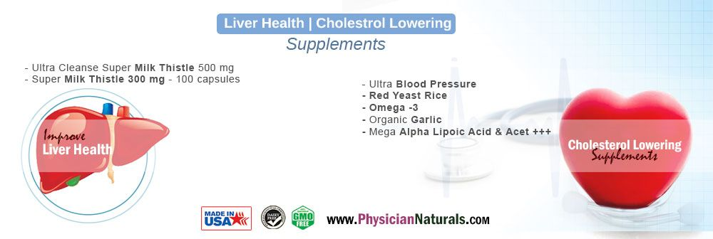 Liver Health Supplements and Cholestrol Lowering Supplements