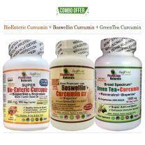 Super BioEnteric Curcumin+Boswellin Cur + GreenTea Curcumin Pack