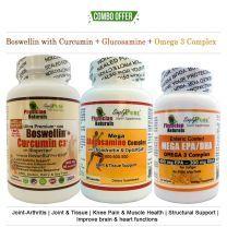 Boswellin Curcumin+Glucosamine+Omega3 Pack