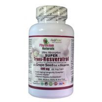 Super Trans Resveratrol with Grape Seed  Bioperine 600mg