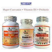 Super Curcumin + Vitamin D3 + Probiotic -Pack