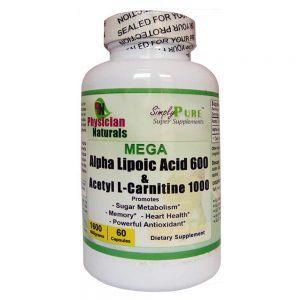 Mega Alpha Lipoic Acid & Acetyl L-Carnitine HCI 1600 mg Per Serving
