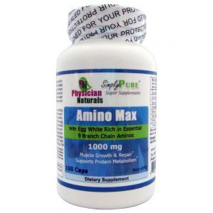 Amino Max 1000 Mg  with Egg White Rich in Essential 9 branch Chain Aminos