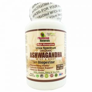 High Absorption Ultra Spectrum Organic Ashwagandha with Bioperine 700mg per Tablet Mind & Body