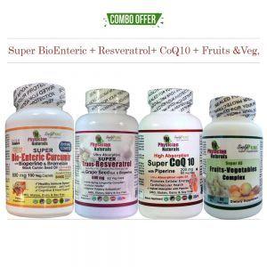 Super BioEnteric + Resveratrol + CoQ10 + Fruits & Veg Pack