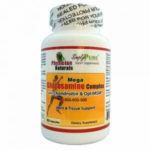 Mega Glucosamine Complex with Chondroitin and Opti MSM  800-600-500mg Optimum Synergy Joint Mobility  and Pain