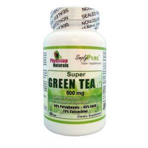 Super GREEN TEA Extract 500 mg  — Pure Green Tea Extract 98% Polyphenols 75% Catechins 250% Egcg