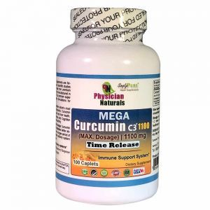 Mega Curcumin C3 1100 mg Sustained Time Release Max Dosage Each caplet equals 33,000 mg Turmeric Powder Promotes Immune and Joint Health