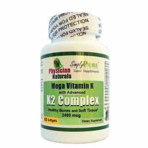 Highest Potency Vitamin K with Advanced K2 Complex 2400mcg Softgels All Natural K includes Phylloquinone (Vitamin K1) and Menaquinones (Vitamin K2) as phylloquinone (Vitamin K1) and Menaquinones (Vitamin K2)