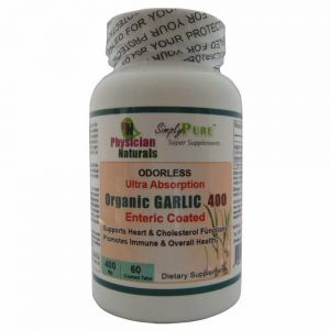 Organic GARLIC 400 Enteric Coated Ultra Absorption All-Natural Garlic Vitabiotics Contains 7200ug Standardized Allicin