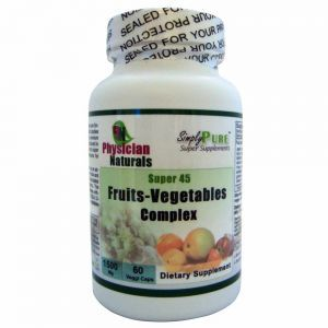 Ultimate Fruits & Vegetable Super Food 1500 mg Complex Advanced Synergistic Blend of phytonutrients from 45 super fruits and vegetables. Each Serving of 1500 mg is Equivalent to 3-5 Servings of Vegetables and Fruits Per Day