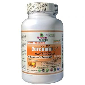 Ultra Curcumin C3 Max Absorption 700 mg Time Release with Bioperine and Bromelain 120 Tabs equal to 5.5 lbs Turmeric Powder  Promotes Anti-Inflammation  Immune  and Brain health