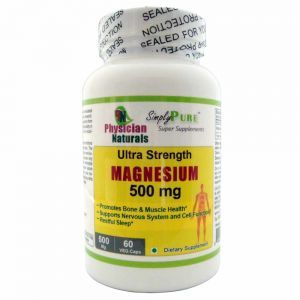 Ultra Strength Magnesium 500 mg Veg Magnesium Oxide & Citrate Capsules