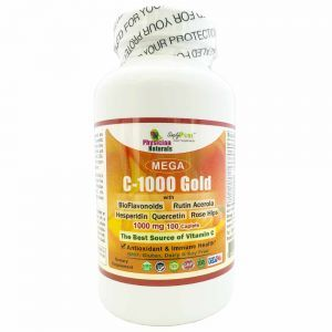 Mega C-1000 Gold 1000mg with Bioflavonoids Quercetin Rose Hips Hesperidin