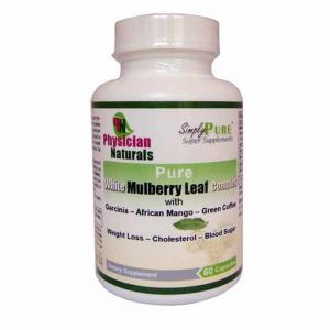 Pure White Mulberry Leaf Complex with Garcinia Green Coffee Bean African Mango