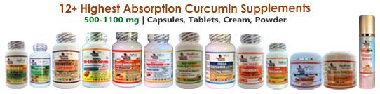 12+ Highest Absorption Curcumin Supplements