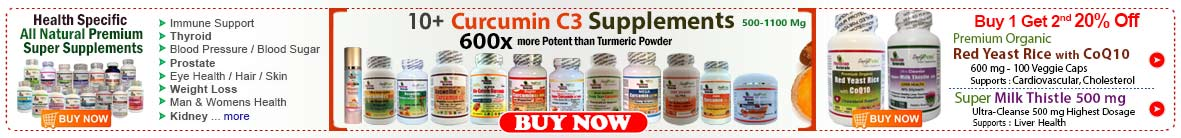 Curcumin, Red Yeast, Milk Thistle, Vitamins Supplements Sale