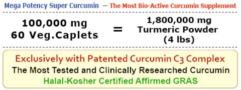 Mega Potency Super Curcumin — The Most Bio-Active Curcumin Supplement